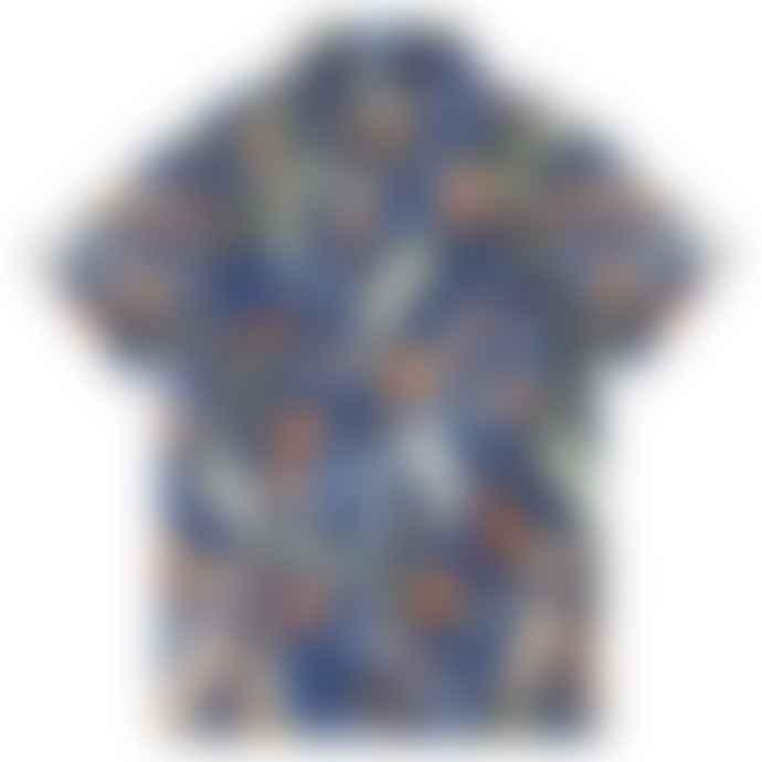 Superdry Navy Hawaiian Box Short Sleeve Shirt