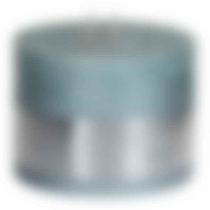 PTMD Metallic Mint Green Block Candle 12x9cm