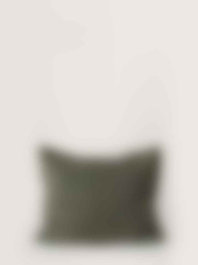 Garbo & Friends Moss Green Linen Single Bed Cover  Bedset