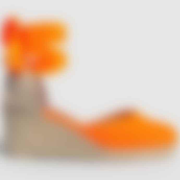 Castaner Carina In Orange Fluro Espadrille