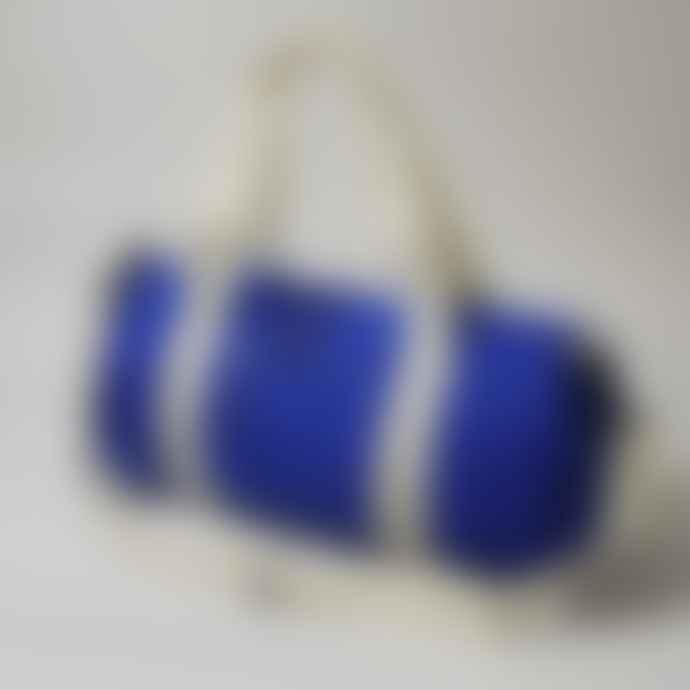 Born Essentials Barrel Bag Royal Off White