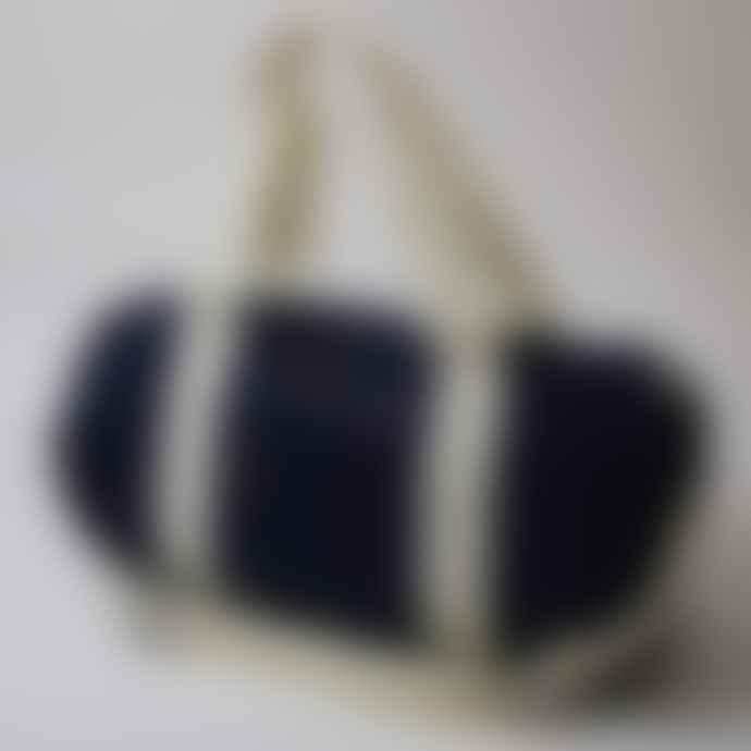 Born Essentials Barrel Bag Navy Off White