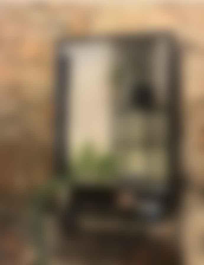Maitri Black Mirror with Shelf