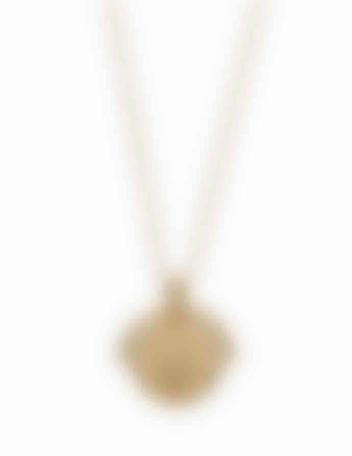 Nordic Muse 18k Gold Vermeil Zodiac Aquarius Necklace NK - 0087 AQUARIUS