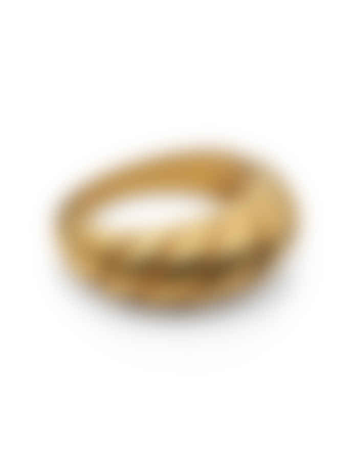 Nordic Muse Waterproof Croissant Ring, Forever Lasting Tarnish-Free 18k Gold