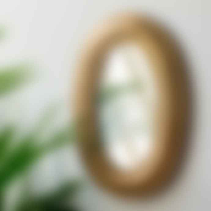 Grand Illusions Oval Mirror Antique Brass Finish