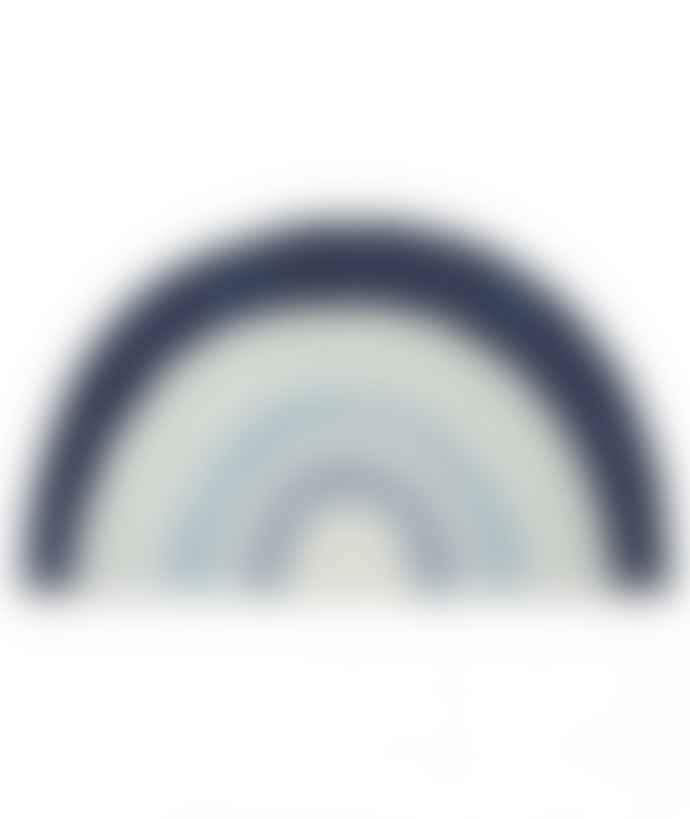 LILIPINSO Blue Rainbow Cotton Rug