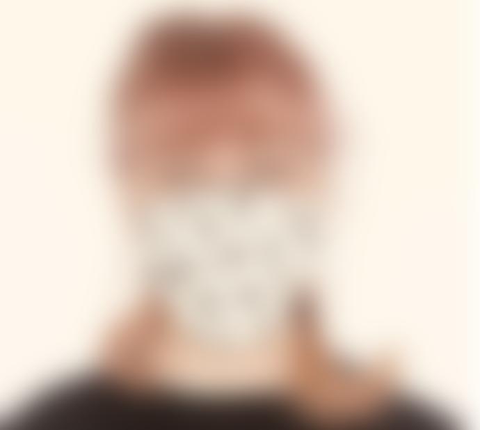The Bonnie Mob Face Mask Monochrome Print