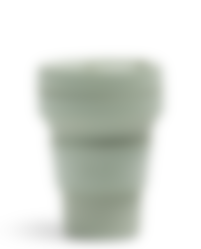 Stojo Sage Green Silicone Collapsible Coffee Cup