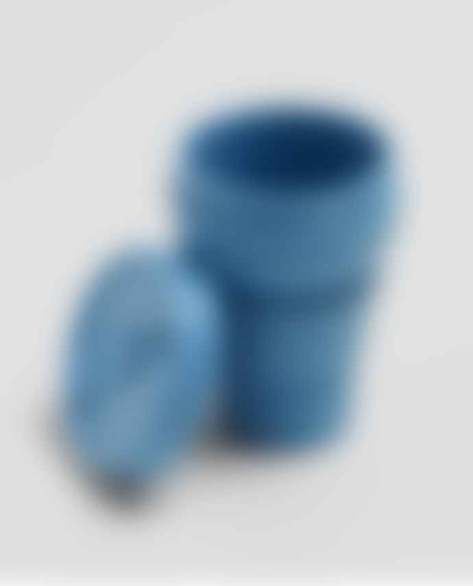 Stojo Steel Blue Silicone Collapsible Coffee Cup