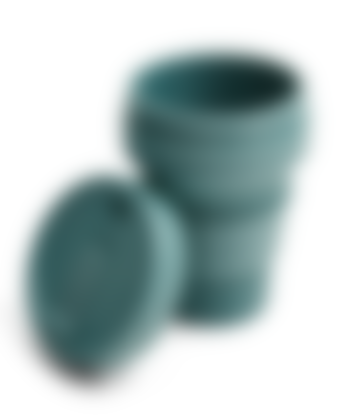 Stojo Eucalyptus Green Silicone Collapsible Coffee Cup