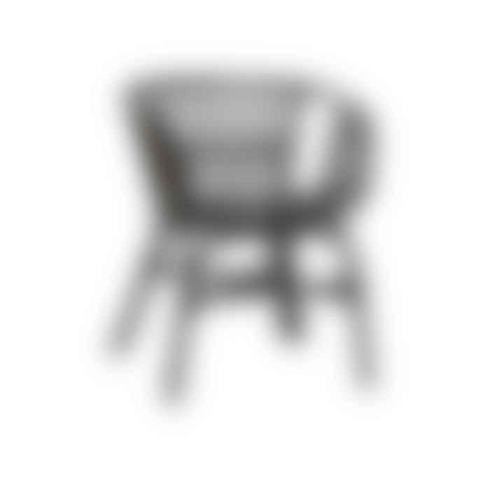 Hubsch Black Rattan Chair