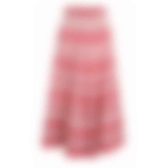 Pearl & Caviar Zakar Maxi Skirt Red