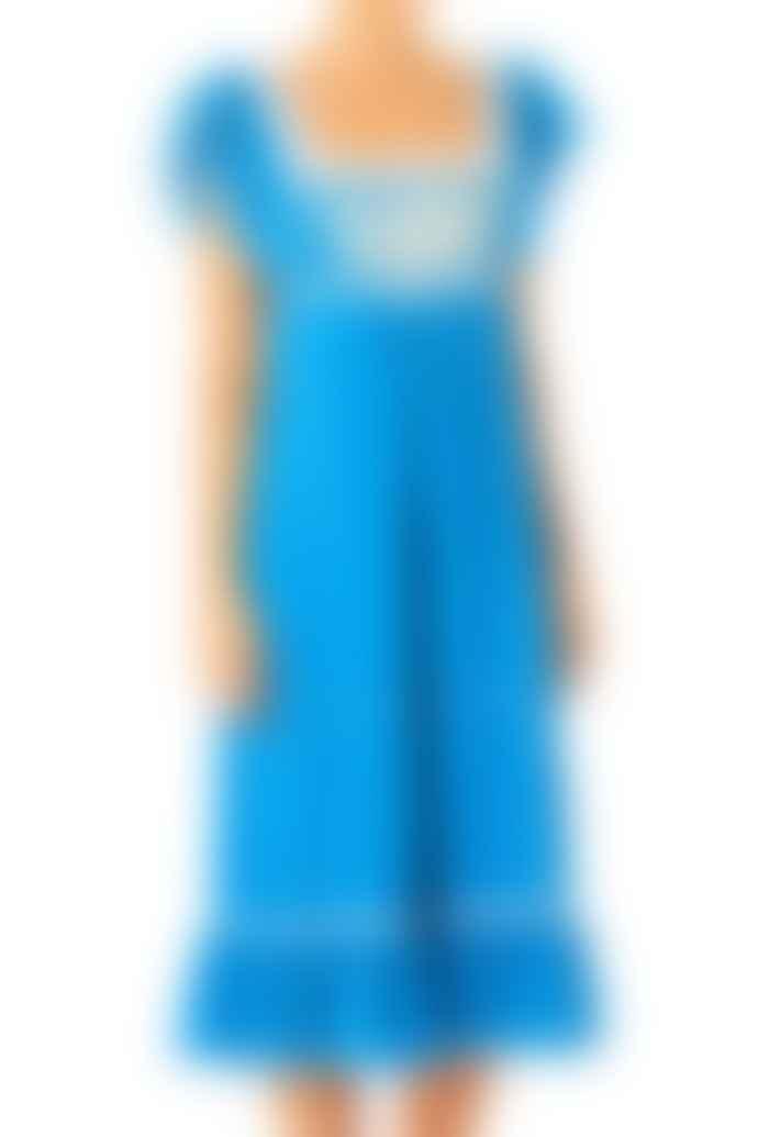 M.A.B.E Alberta Embroidered Blue Dress
