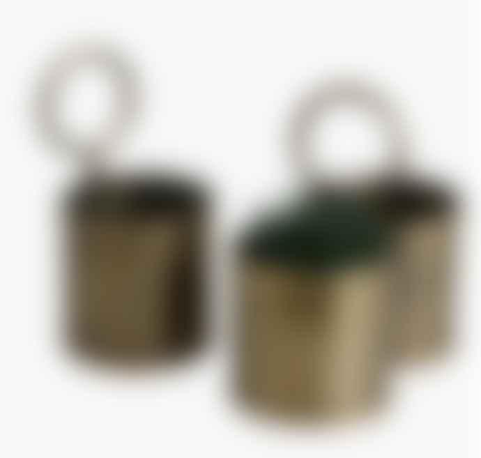 Brass Storage Pot - Double
