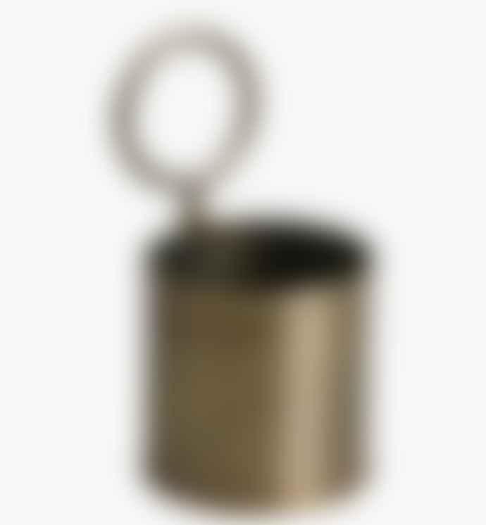 Brass Metal Storage Pot - Single
