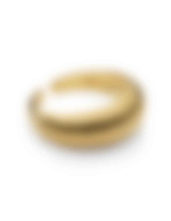 Nordic Muse 18k Gold Vermeil Adjustable Croissant Ring
