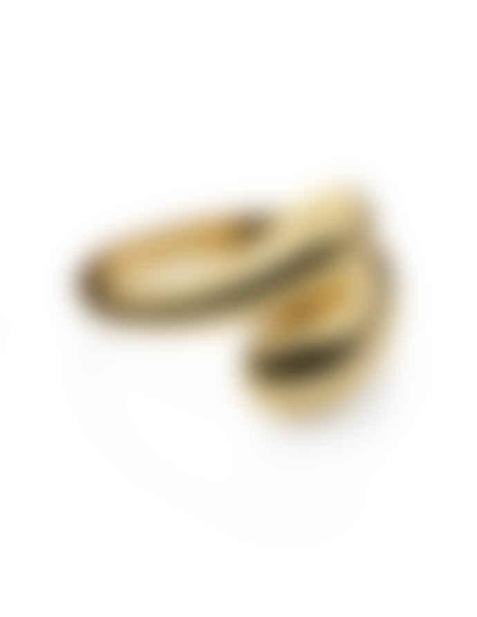 Nordic Muse 18k Gold Vermeil Adjustable Dual Drop Ring