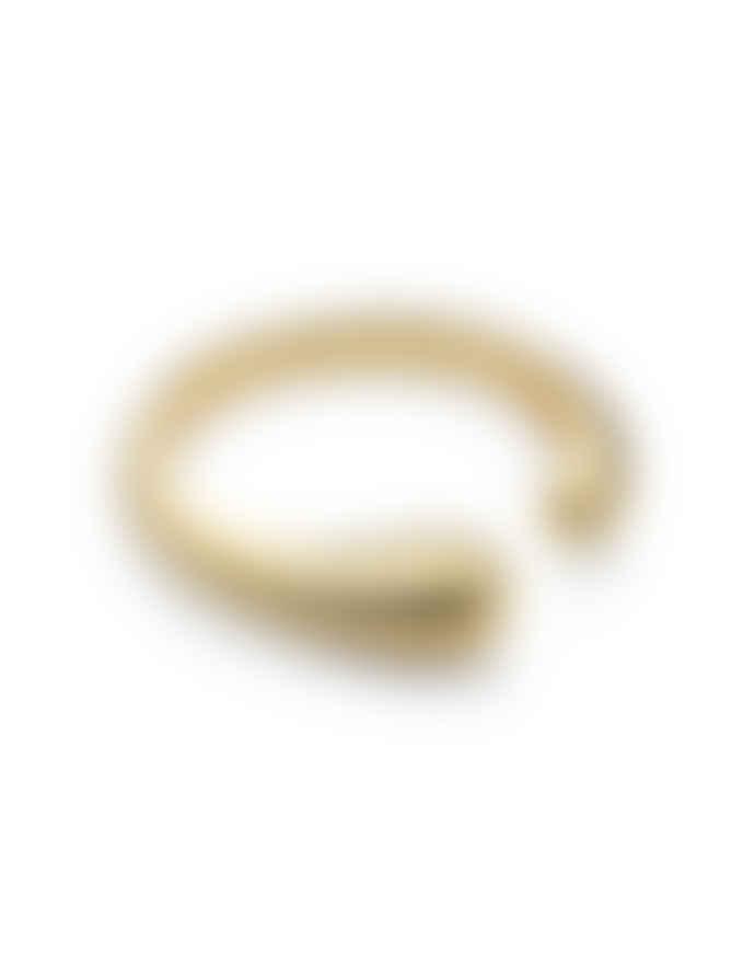 Nordic Muse 18k Gold Vermeil Adjustable Fluid Shape Ring