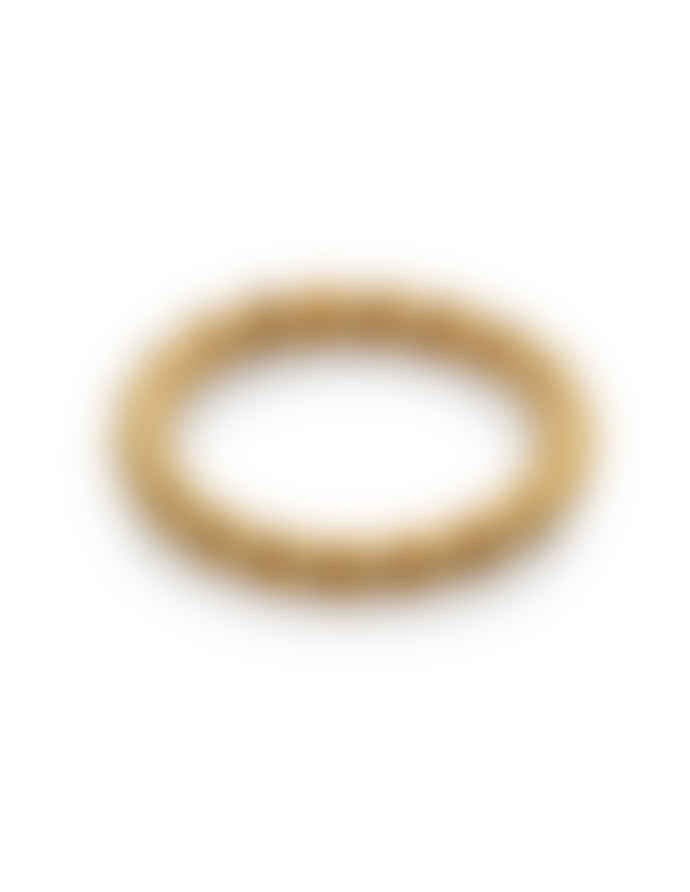 Nordic Muse Waterproof 18k Gold Twist Ring RG - 0027