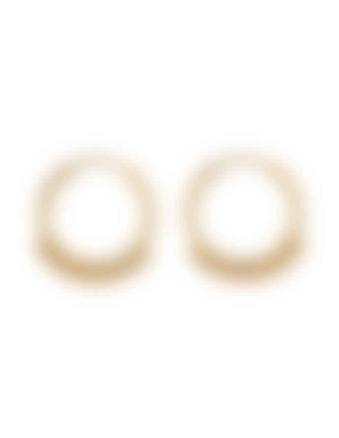 Nordic Muse Waterproof 18k Gold Beaded Hoop Earrings