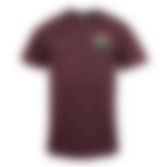 Hikerdelic Original Logo T Shirt Maroon