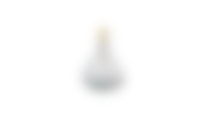 Nkuku Baba Glass Lamp Clear Small Wide