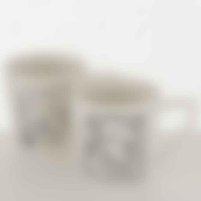 Boltze Mug Pica White/Black with Pattern 300ml