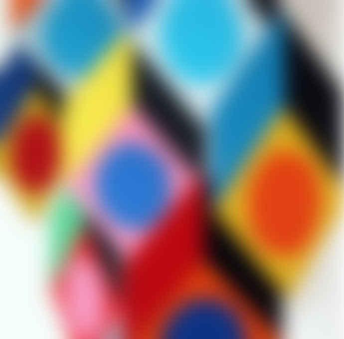 Livingly  42 x 44cm Cubillusion Optical Illusions Hanging Mobile Decoration