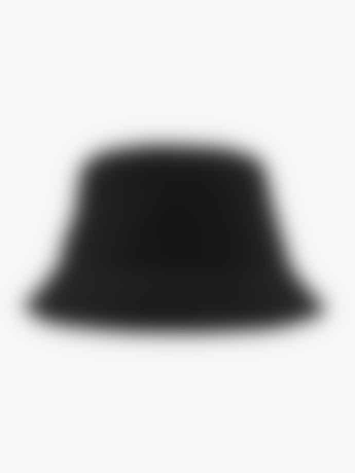 Sui Ava Mariah Seersucker Bucket Hat Black