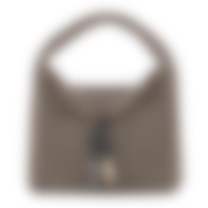 Tissa Fontaneda Ash Grey Horn Tassle Uptown Sack Shoulder Bag - Small