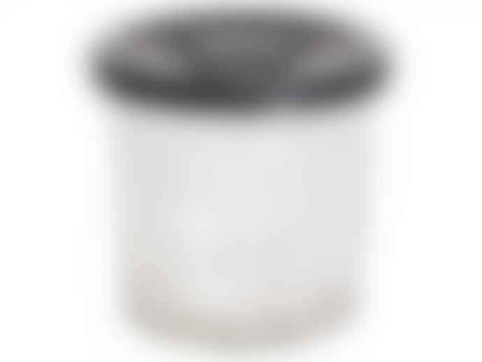 The Grey Works Medium French Style Glass Marmalade Jar With Black Star Lid