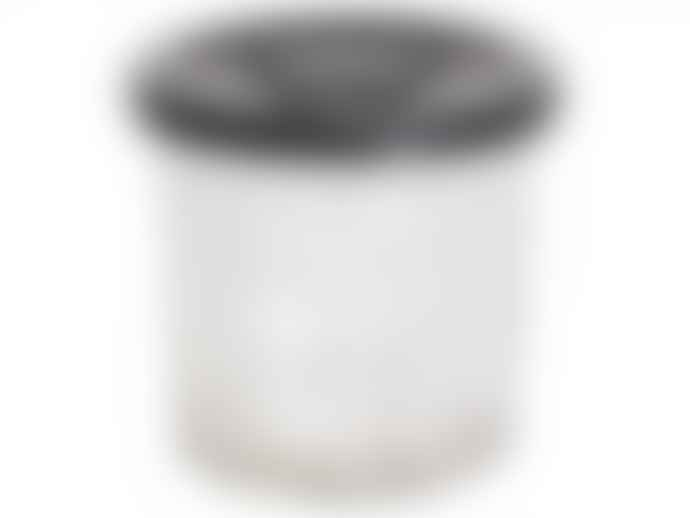 The Grey Works Large French Style Glass Marmalade Jar With Black Star Lid