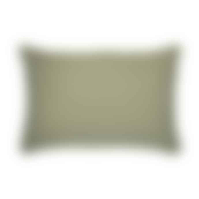 Ib Laursen Olive Green Linen Cotton Cushion Cover