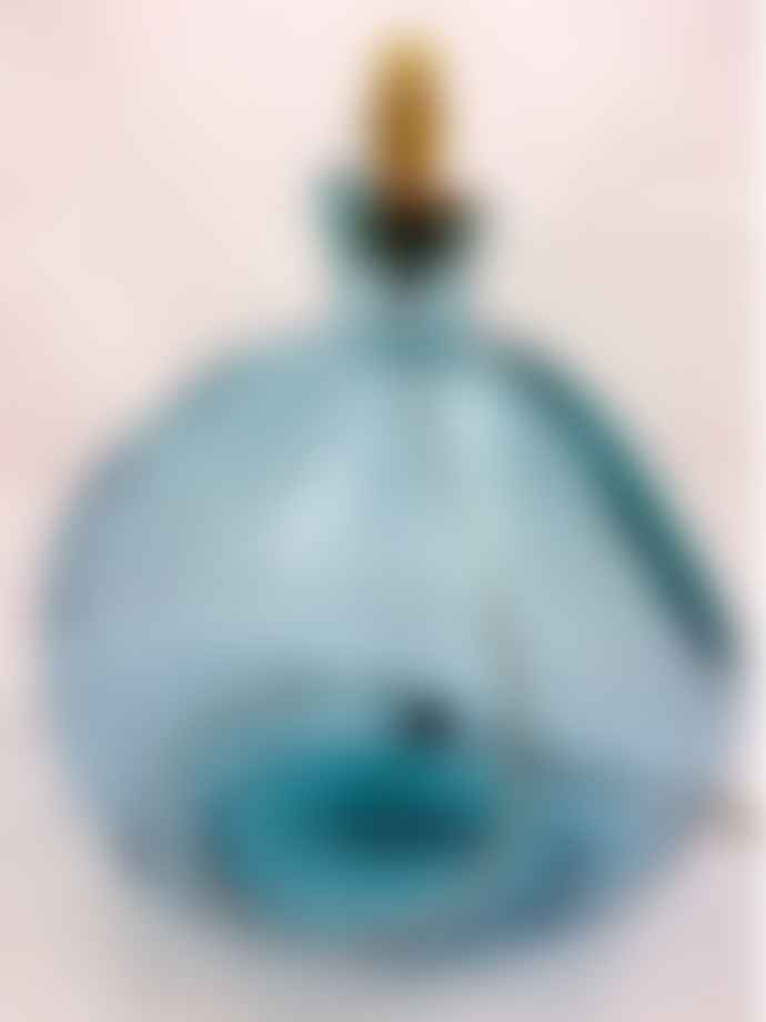Jarapa Light Blue Recycled Glass Lamp