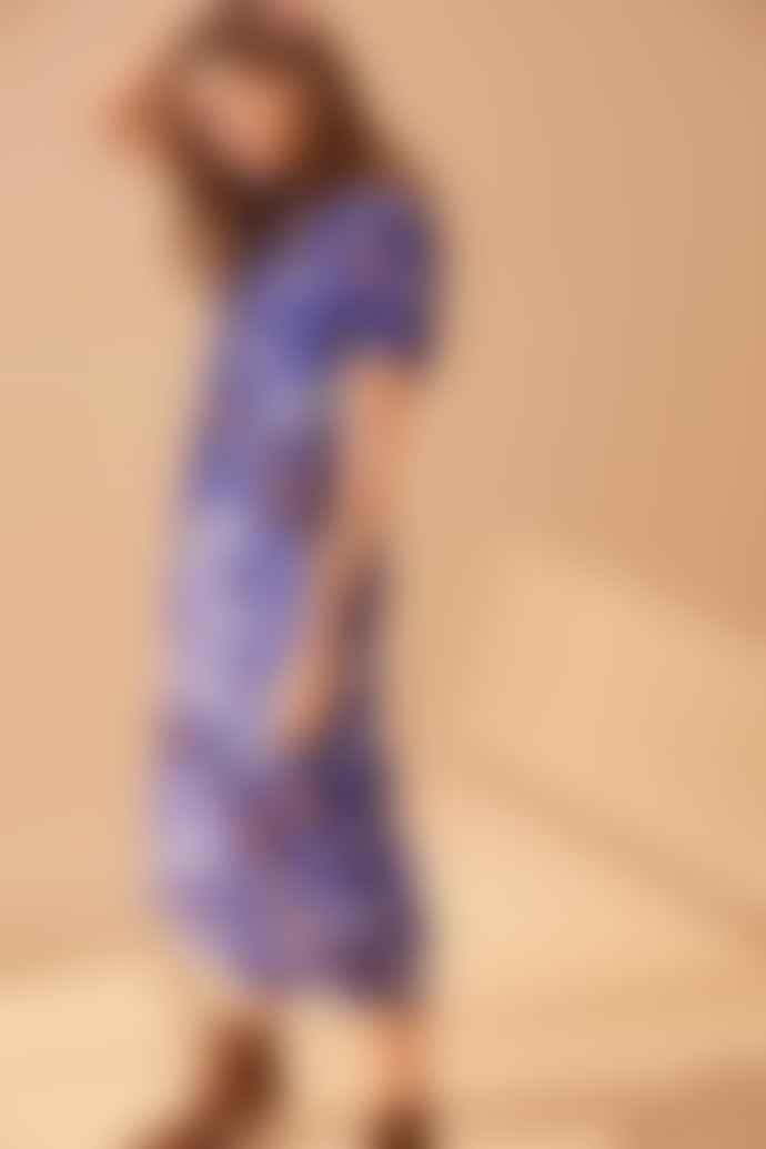 Part Two Diara Blue Floral Print Dress