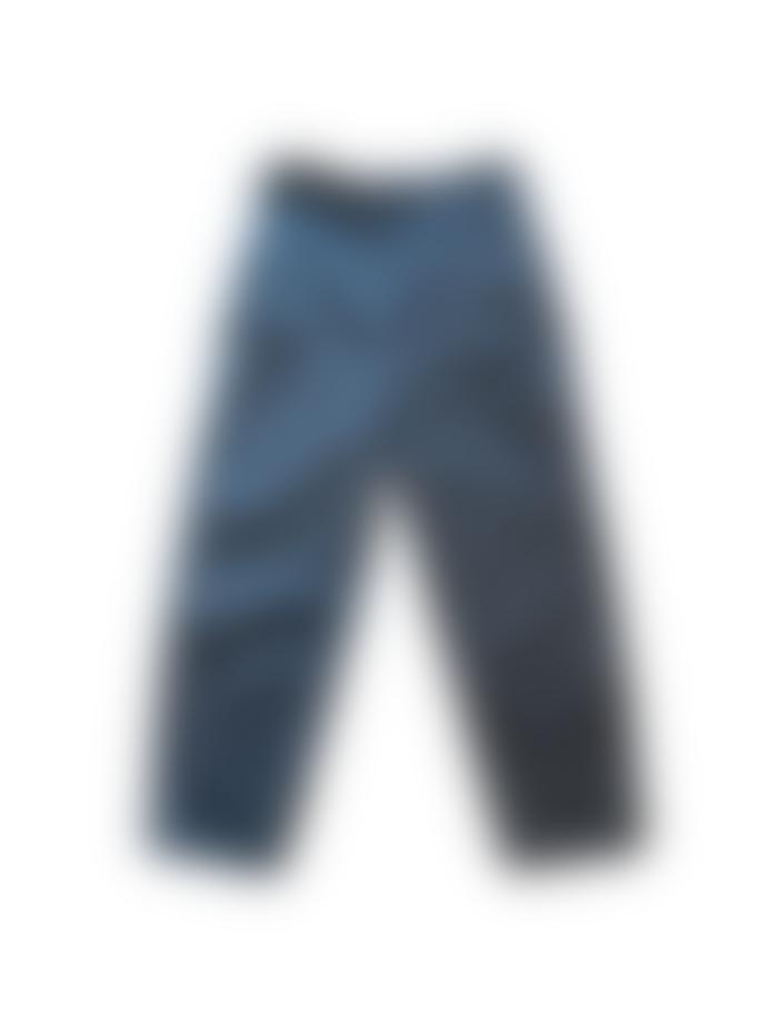 Transit H 172 Cotton Trousers Blue Grey