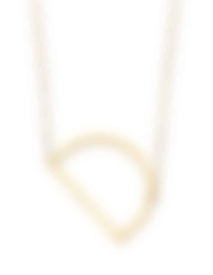 Nordic Muse Waterproof 18k Gold Initial Letter Pendant Necklace, D