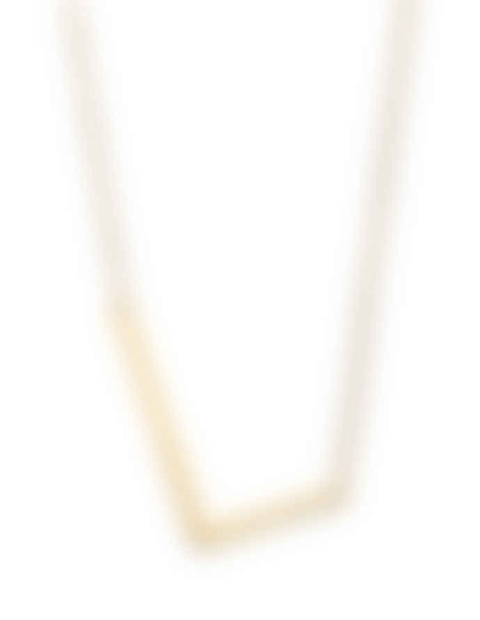 Nordic Muse Waterproof 18k Gold Initial Letter Pendant Necklace, L