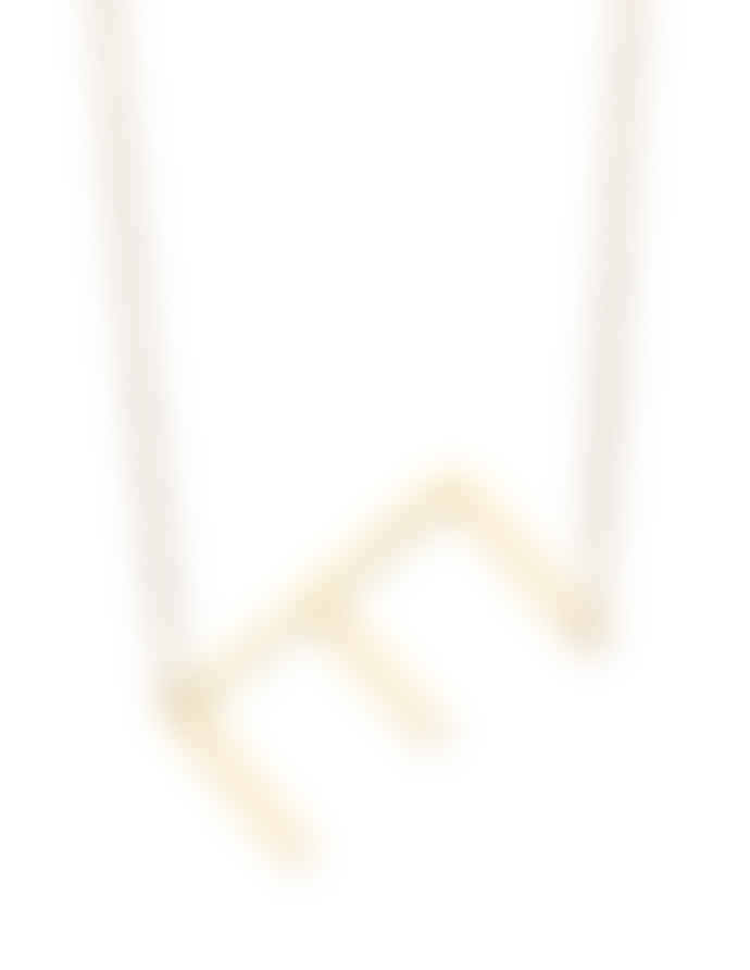 Nordic Muse Waterproof 18k Gold Initial Letter Pendant Necklace, E