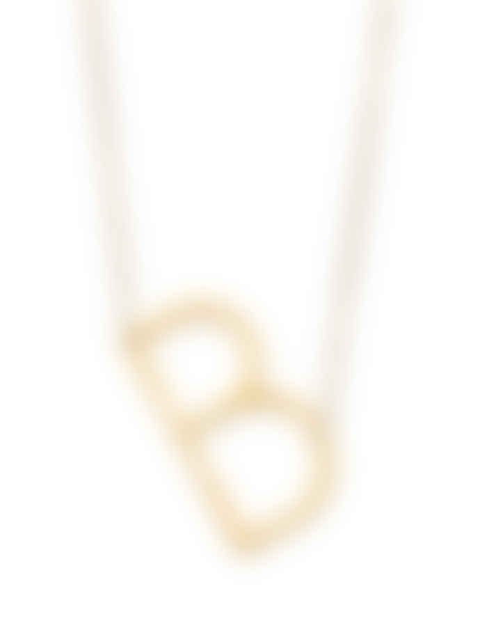 Nordic Muse Waterproof 18k Gold Initial Letter Pendant Necklace, B