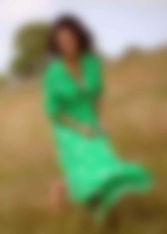 Primrose Park Ossie Clark Loopy Lou Dress - Pixie Green