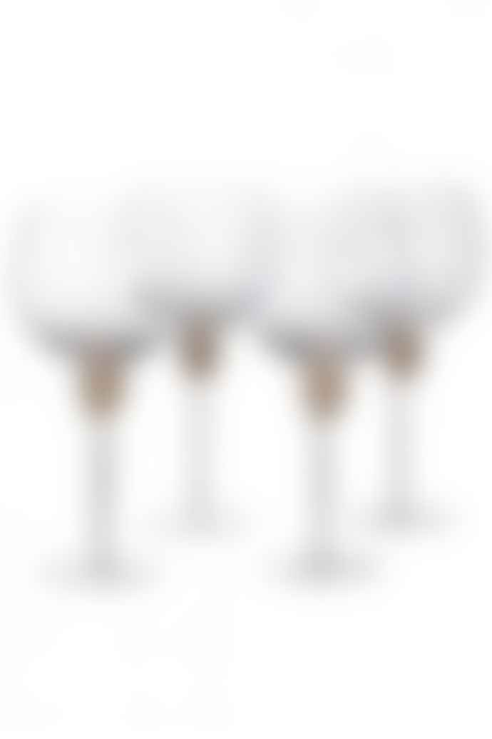 The Sue Parkinson Home Collection Set Of 4 Gold Diamante Gin Glasses