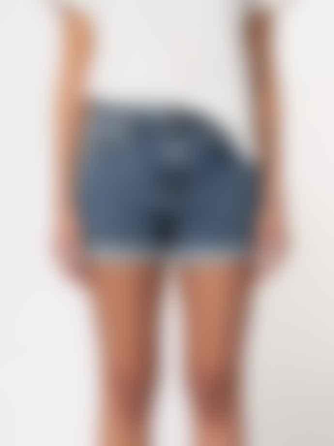 Nudie Jeans Frida Denim Shorts Blue Friends
