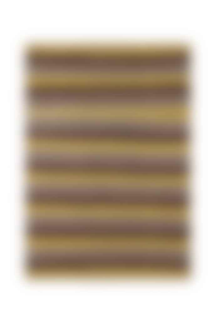 Navkar Sonia Yellow Brown Knitted Rug