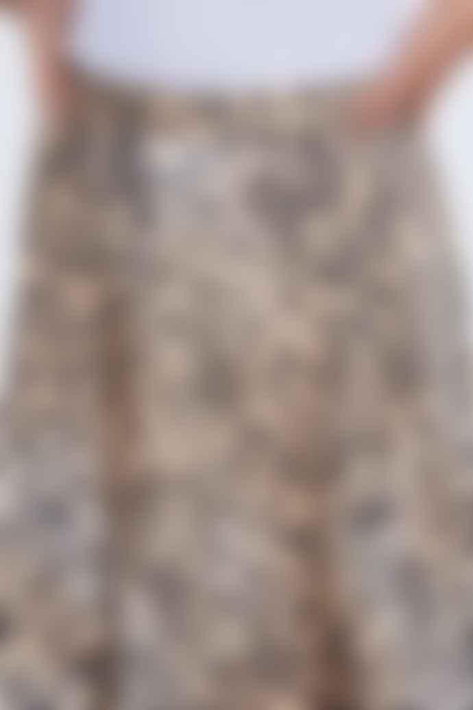 Set Fashion Back Cheetah Print Midi Skirt 69383