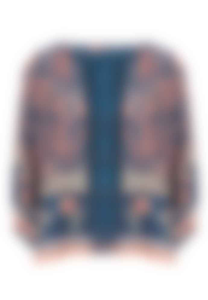 M.A.B.E Blue & Pink Print Joy Jacket