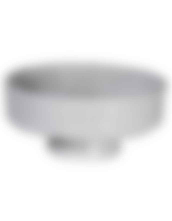The Forest & Co. Grey Textured Footed Bowl