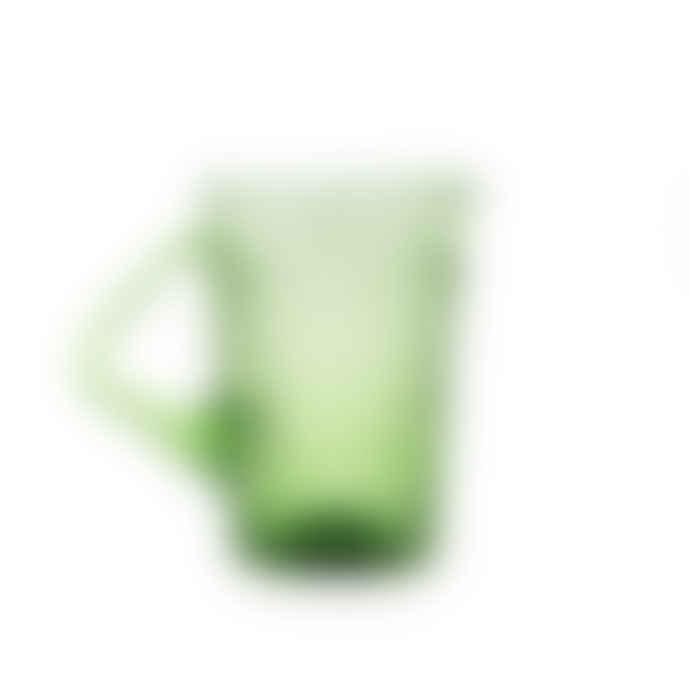 Van Verre Fleur De Lys Pitcher Green
