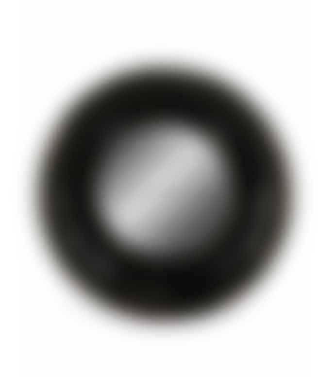 &Quirky Black Deep Framed Small Convex Mirror